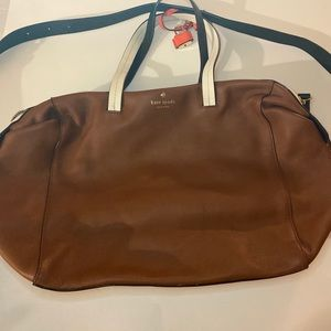 Kate spade large brown handbag